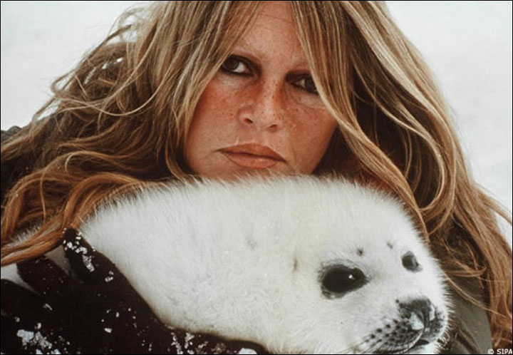 Brigitte Bardot with Seal